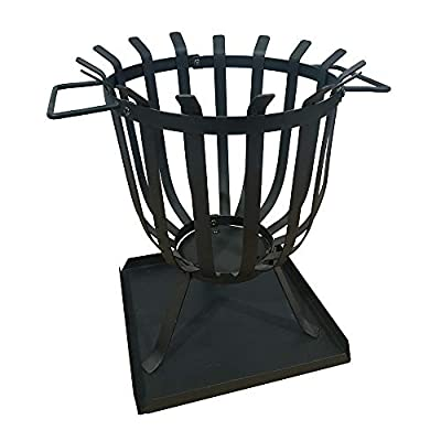 Gardenesque Hoole Collection Cesta Fire Basket, W36 x H48.5 cm, 5kg from Woodlodge Products