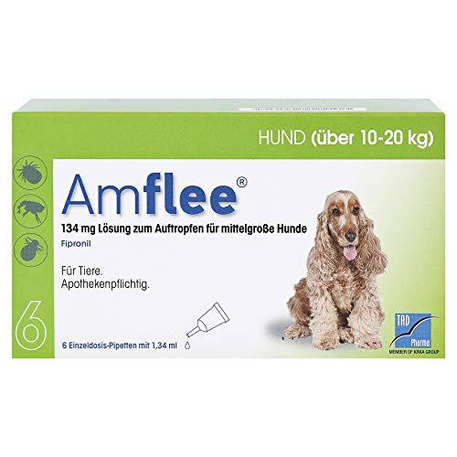 AMFLEE 134 mg Spot-on Lsg.f.mittelgr.Hunde 10-20kg 6 St