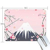 Jiemeil マウスパッド 高級感 おしゃれ 滑り止め PC かっこいい かわいい プレゼント ラップトップ などに 桜柄 桜花柄 富士山 おしゃれ きれい ピンク