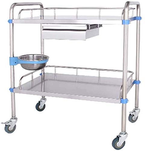 Bcaer Multi-Funktions-Mobile Karre mehrschichtige Schönheitspflege Mobile Karre Trolley Scheibe Lagerultrabreiten Tabellen,Silver