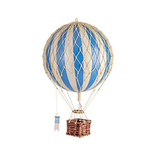"Authentic Models | Deko Heißluftballon ""Travels Light"" AP161D | Diameter 18 cm | Blau | Miniatur Heißluftballon Deko"
