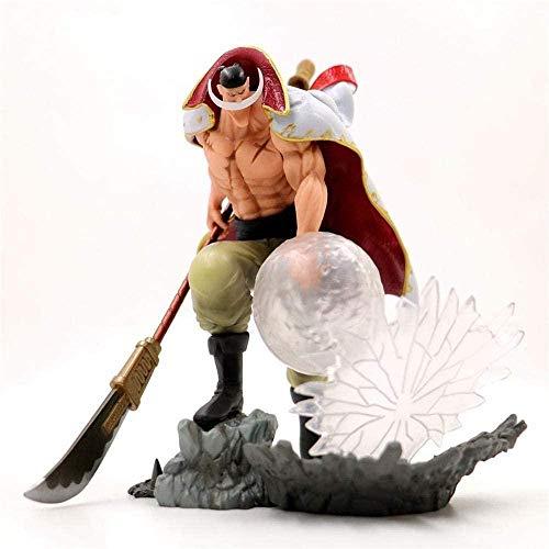 Yooped One Piece Barba Bianca Edward Figura de Anime Statuetta da Collezione PVC Personaje de Anime Giovani Adolescenti E Anime Fan Regalo 23CM