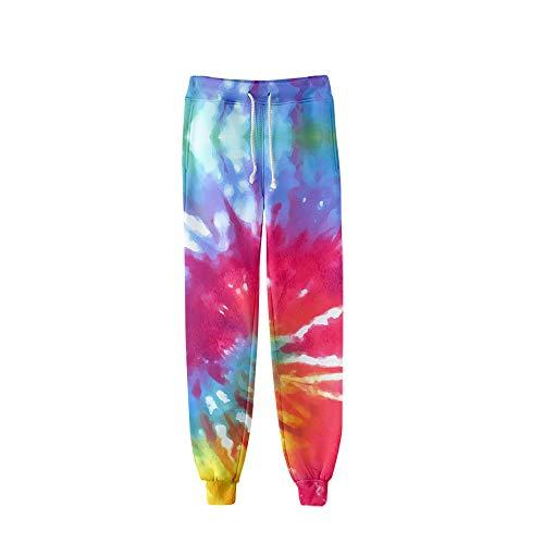 MLX-BUMU Tie Dye Kleurrijke Psychedelische mode Harajuku joggingbroek warme harembroek vrouwen streetwear 3D-bedrukte baggy-broek met hoge taille