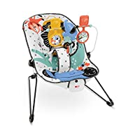 Soothing infant seat bounces along to your baby's natural movements Removable toy bar with 2 spinners and an elephant clacker Calming vibrations help soothe your baby Machine-washable seat pad adjustable 3-point harness, and non-skid feet Max. weight...