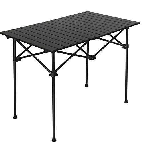 DTTKKUE Aluminium-Klapptisch beweglicher Picknick-Tisch-Licht Multi Camping Tisch Schreibtisch mit Tragetasche für Picknick Camping Strand Angeln Barbecue,M