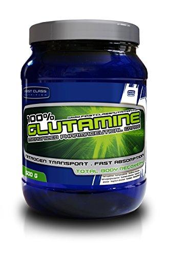 First-Class Nutrition Glutamine 100% puro grado farmacéutico, 1 unidad (500 g)