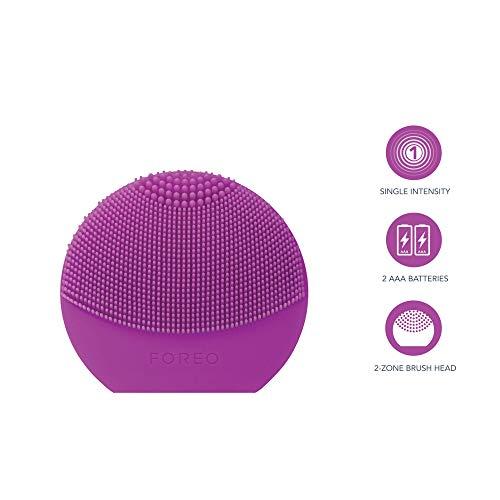 FOREO LUNA play plus, Spazzola pulizia viso impermeabile con batteria sostituibile, Viola (Purple)