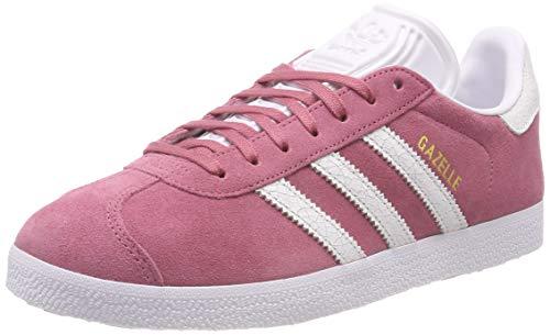 adidas Gazelle W, Scarpe da Ginnastica Donna, Rosa (Trace Maroon/Ftwr White/Ftwr White), 39 1/3 EU
