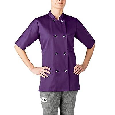 Chefwear 4465-127 Women's Short Sleeve Chef Jacket XS Purple