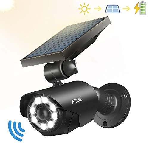 Solar Motion Sensor Light Outdoor - 800Lumens 8 LED Spotlight 5-Watt...