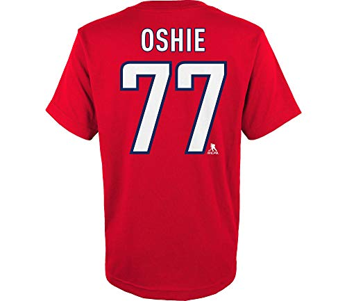 Outerstuff NHL Youth Team Color Player Name and Number Jersey T-Shirt (T.J. Oshie Washington Captials Red, Medium 10/12)