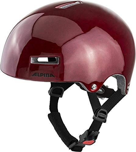 ALPINA AIRTIME Fahrradhelm, Unisex– Erwachsene, red, 52-57