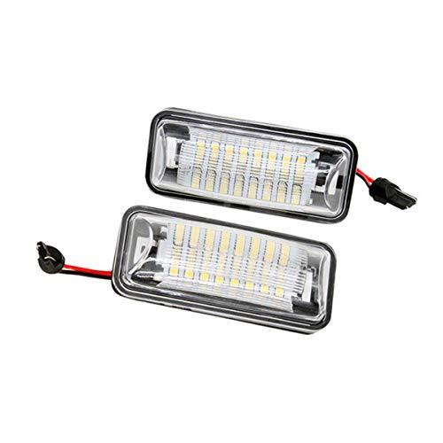 GOFORJUMP 2 PCS/Set GT 86 LED Lampe de Plaque d'immatriculation Lampe de Plaque d'immatriculation arrière pour T/otota 86 GT86 FT86 BRZ Scion FR-S