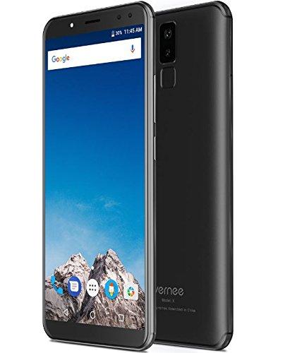 Vernee X - FHD de 5,99 pulgadas (relación 18: 9) Smartphone Android 4G, Octacore de 2,0 GHz 4 GB + 64 GB, batería de 6200 mAh, Cuatro cámaras (13MP + 5MP + 16MP + 5MP), Reconocimiento facial - Negro