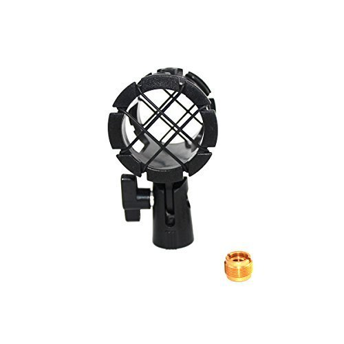 ZRAMO Microphone Clip Mount Small Size Mics Holder Shock Mount with Adapter and 8pc O-ring for D230, ME66, Rode NTG-2,NTG-1, AT-875R