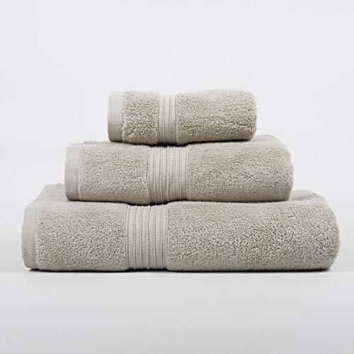 Juego de Toallas (Tocador, Lavabo y Ducha), 100% algodón Zero Twist, Made in Portugal