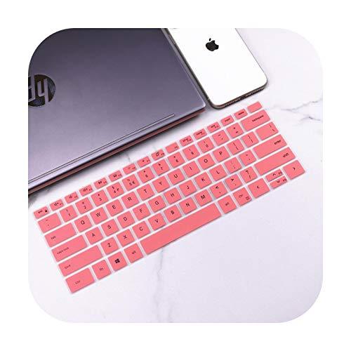 """Funda para teclado Dell XPS 15 9500 2 en 1 de 15,6"""" XPS 15-9500 / XPS 17 9700 XPS17 de silicona, color rosa"""