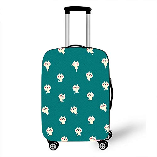 Elastic Luggage Cover, CNNINHAO 3D Print Trolley Case Protective Travel Suitcase Anti Scratch Dustproof Resistant Case Trolley Skin Protector Elasticized Washable (2,XL (30-32inch))