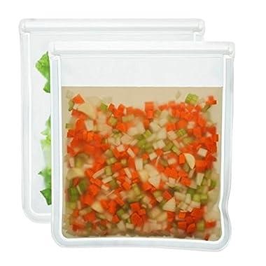 BlueAvocado (re)zip Seal Bag (Pack of 2), 1 gal, Clear
