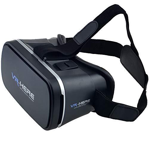 XYY Virtual Reality VR Box 3D-Brille VR Headset VR Goggles für Mobile Video-Spiele beobachten 3D-Filme 360 ° Videos Kompatibel mit 3,5-6 Zoll Handys iPhone Android Universal-Telefon