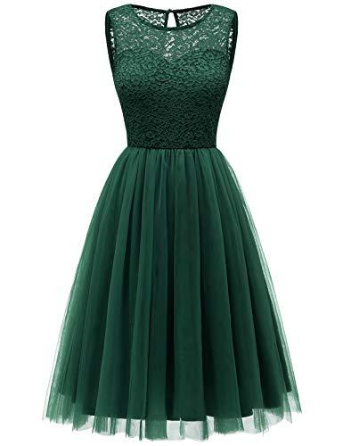 Bbonlinedress tüllrock faschingskostüme Damen tütü Cocktailkleid Tüll Kleid Brautjungfern Partykleid Abendkleid Dark Green S