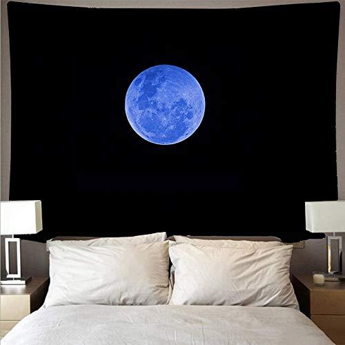 KHKJ Planeta Espacio Cielo Estrellado Estilo Revestimiento de Pared Gran Arte Tapiz psicodélico Colgante de Pared Toalla de Playa Manta A4 200x180cm