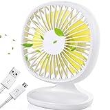 AYOUYA Desk Fan USB Fan Strong Wind Cooling Fan with Adjustable Head, 3 Speeds, Mini Size Desktop Fan Table Fan Computer Fan for Home Office Outdoor Travel