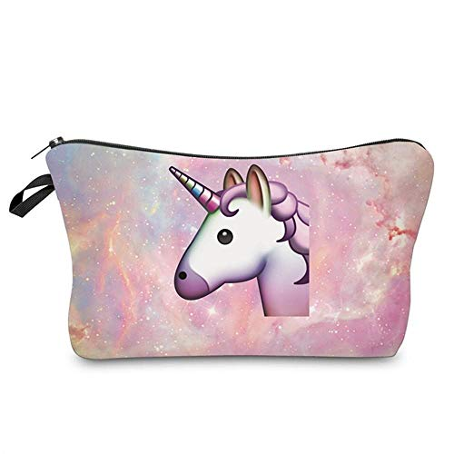Qaoping Bolsa-Azul Cielo Estrellado cosmética (Color : Pink Horse)