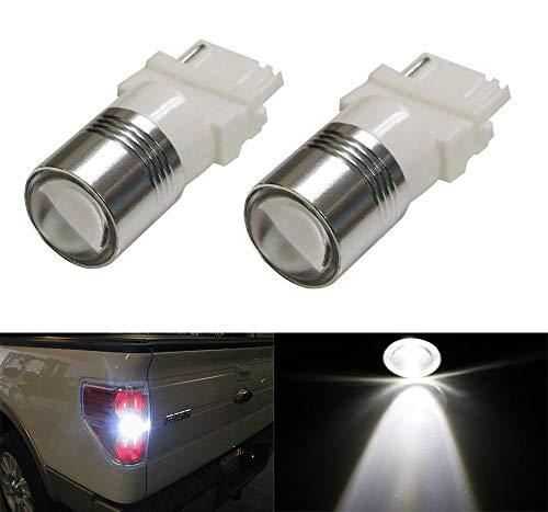 iJDMTOY (2) Xenon White High Power 3156 3157 LED Backup Reverse Light Bulbs Powerd By 5W CREE XP-E LED Emitter