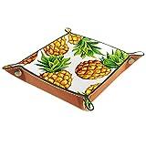 Bandeja de almacenamiento de escritorio con diseño de piña tropical, para guardar llaves, teléfono, cartera, joyería