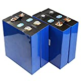 Fosfato De Hierro Y Litio 3.2V 202Ah LiFePO4 Batería De Celda Profunda Prismática Recargable para Barco, RV, Carrito De Golf, Sistema Solar, UPS, Etc.Red (Color : 4pcs, Tamaño : 3.2V 202Ah)