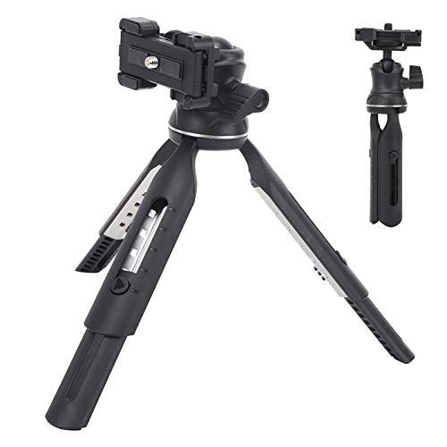 SALUTUYA Trépied Compact et Portable trépied réglable en Plastique + Aluminium Rotation à 360 degrés adapté aux téléphones Mobiles caméras de Mouvement appareils Photo Reflex numériques