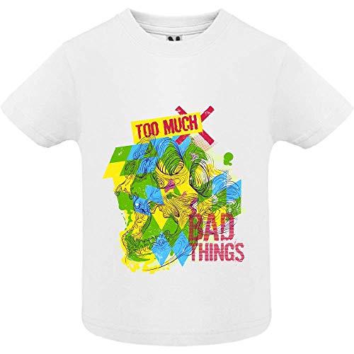 LookMyKase T-Shirt - Bad Things - Bébé Garçon - Blanc - 18mois