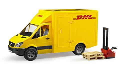 Bruder 02534 TOYS Mercedes Benz Sprinter DHL mit Handhubwagen und 2 Paletten