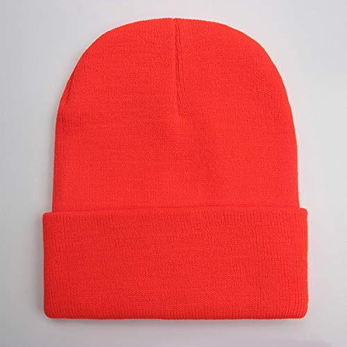 N/A Herfst en winter mix zachte warme gebreide muts heren en dames hoed ski hoed