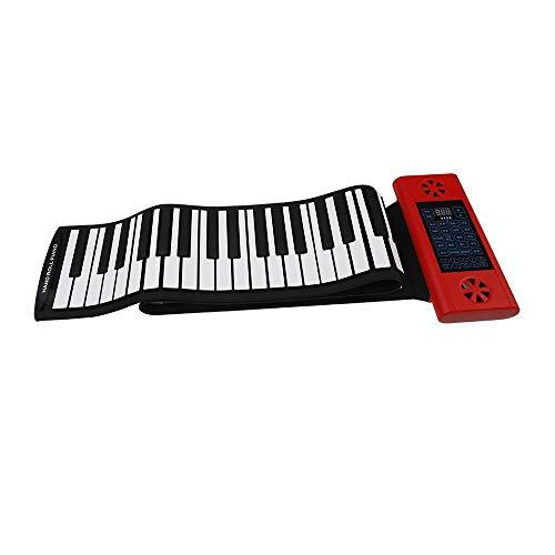 Rollpiano Doppelter eingebauter Lautsprecher Verdickt 88 Tasten Flexibles elektronisches Roll-Up Digitale Musik Klaviertastatur Tragbares MIDI-Design mit Aufnahme- und Wiedergabefunktionen Fußpedal 12