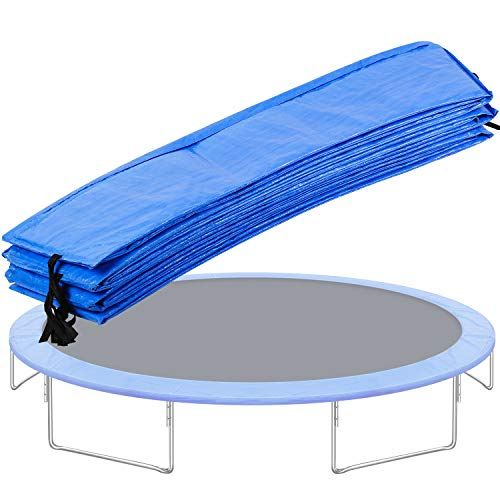 LUKDOF Trampoline Cover Pad 10FT 12FT 14FT 16FT Universal Replacement Trampoline Frame Waterproof Surround Spring Pad for Round Frame (16FT)