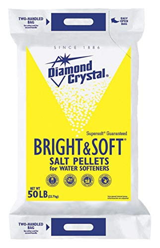 Diamond Crystal 50 lb. Water Softener Salt, Bright & Soft Series, Pellets, 99.8% Purity (Оne Расk)