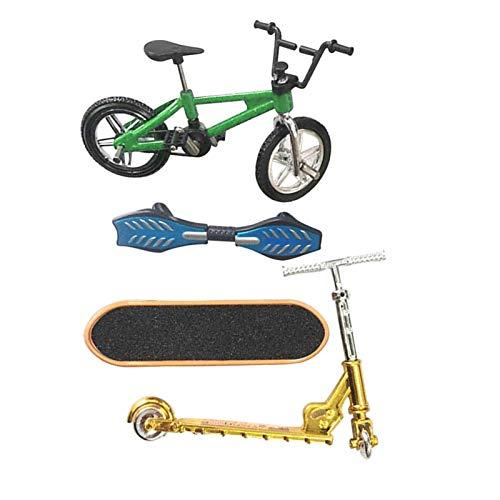 Perfeclan Mini Juego de Juguetes de Dedo monopatín Bicicletas de Dedo Scooter pequeño Swing Board 4 unids/Set - B