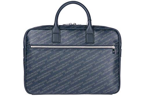 Emporio Armani Aktentasche Tasche Dokumententasche Laptoptasche blu