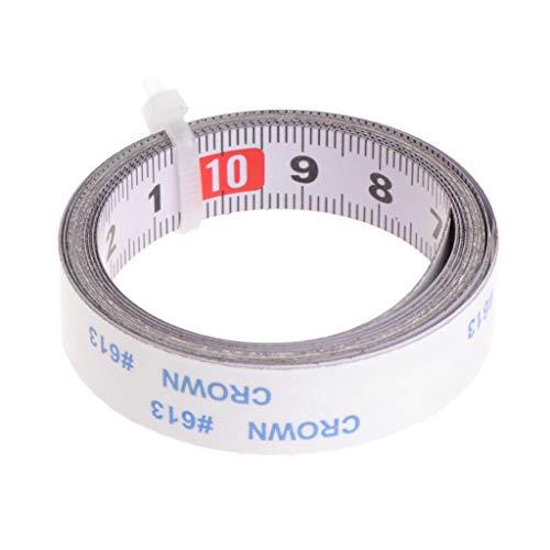 JENOR Cinta métrica adhesiva de 1 m para medir la escala, regla de acero mecánico inversa para fresadora, sierra de mesa, herramientas de carpintería