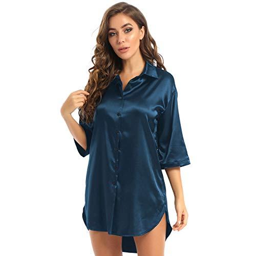HUANSUN Pijamas Casuales para Mujer, Cuello Camisero, Pijamas Sueltos, Pijamas para Mujer, Pijamas...