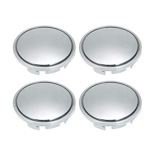 Festnight 56mm Auto Radmitte Kappen Nabe Reifen Felge Radkappe Abdeckung Universal ABS Chrom Silber 4PCS