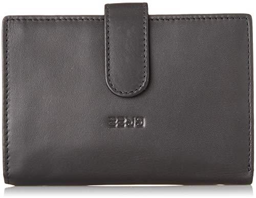BREE Collection Damen Liv New 119, Black Smooth, Combi. Purse Geldbörse Schwarz (Black Smooth)