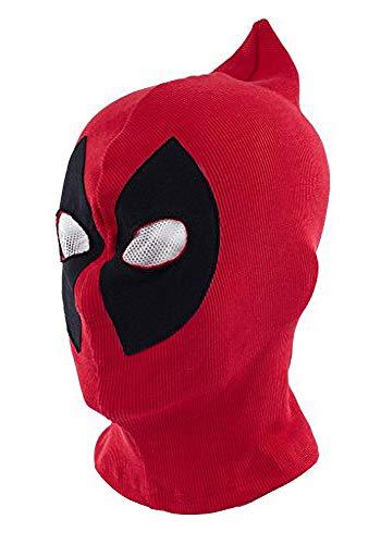 ToBe-U - Mscara para disfraz de Deadpool con cara completa para adultos, para Halloween, color rojo y negro, Red B, talla nica