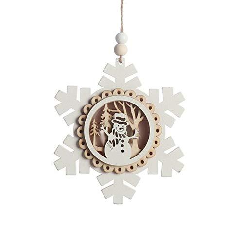 ZXXFR Kerstmis decoratie hanger, sneeuwvlok hout licht tot kerstmis hanger oplichtend Xmas Tree Drop Ornament vakantiehuis verlichting voor kerstmis party decoratie