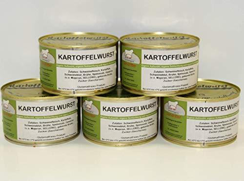 Hausmacher Kartoffelwurst 5x400g Dosenwurst, Vorteilsset, Vorratsset, Landmetzgerei Sandritter