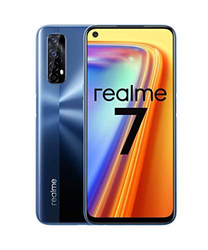 realme 7 - Smartphone de 6.5', 8GB RAM + 128GB ROM, LCD FHD+, Helio G95 Gaming, cuádruple cámara Sony 48MP + 16MP Frontal. Dual SIM + 1 Micro SD. Azul Niebla [Versión ES/PT]