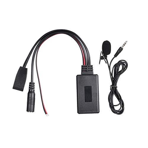 VISLONE Car Business CD BT Music Audio Cable 10Pin Micrófono Micrófono Manos Libres Adaptador de Llamada de teléfono Reemplazo para BMW E46 10Pin Socket
