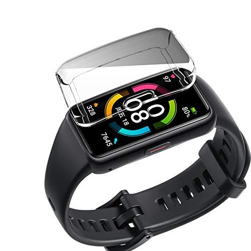 Romacci Smartwatch Case Capa de proteção geral Anti-arranhões TPU Ultrafino Substituição da capa protetora de tela para HONOR Band 6 Protetor de tela transparente